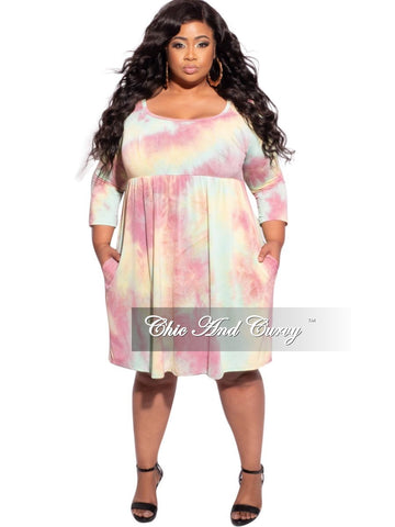 New Plus Size 2-Piece Duster and Pants Set in Color Block Multi Color Stripe Print