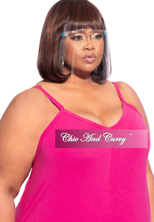 Final Sale Plus Size Exotic Shades Face Mask with Clear Framing