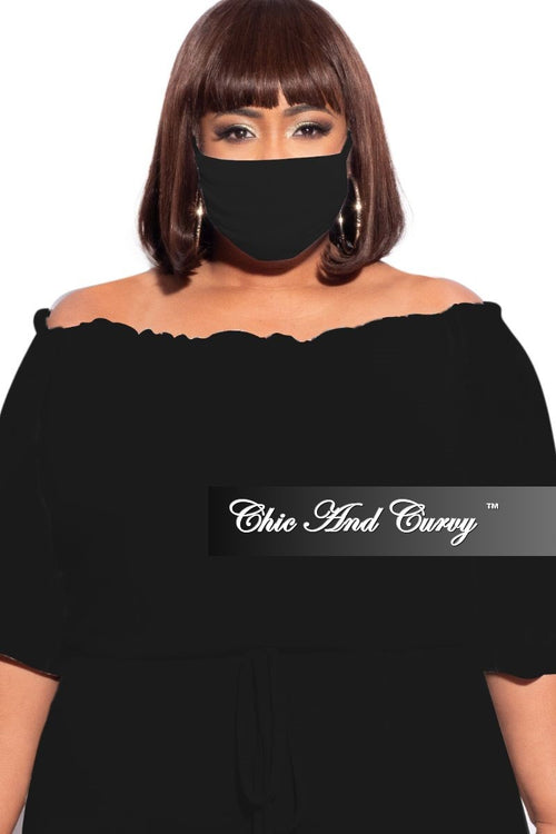 Final Sale Modal Cloth Face Mask in Black