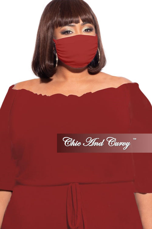 Final Sale Modal Cloth Face Mask in Red