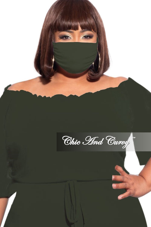 Final Sale Modal Cloth Face Mask in Olive
