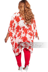 Final Sale Plus Size High Waist Jeans in Red