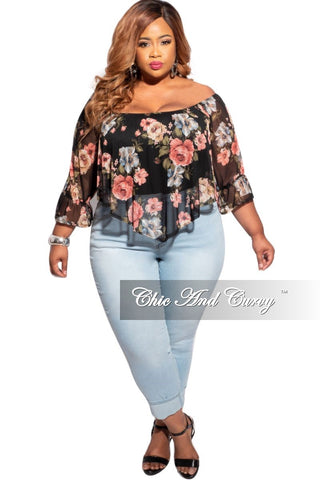 Final Sale Plus Size Bomber Jacket in Denim