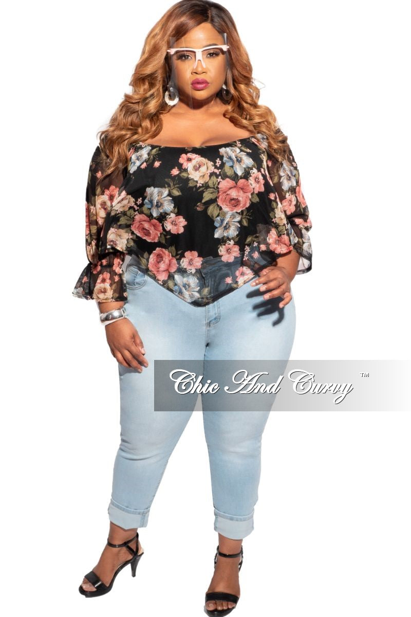 New Plus Size Jeans in Light Blue