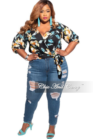 Final Sale Plus Size Shorts in Black