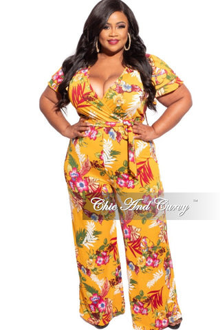 New Plus Size Wide Leg Jumpsuit in Black