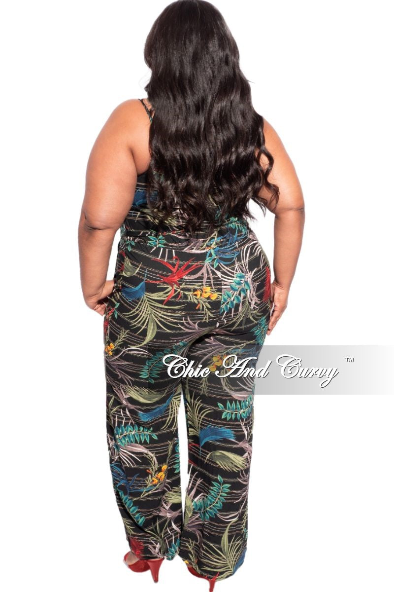 New Plus Size Jumpsuit in Multi-Color Print