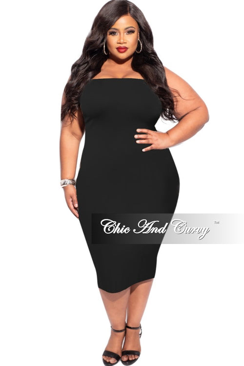 New Plus Size Strapless Dress/Pencil Skirt in Black