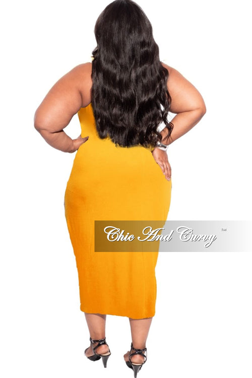 New Plus Size Strapless Dress/Pencil Skirt in Mustard