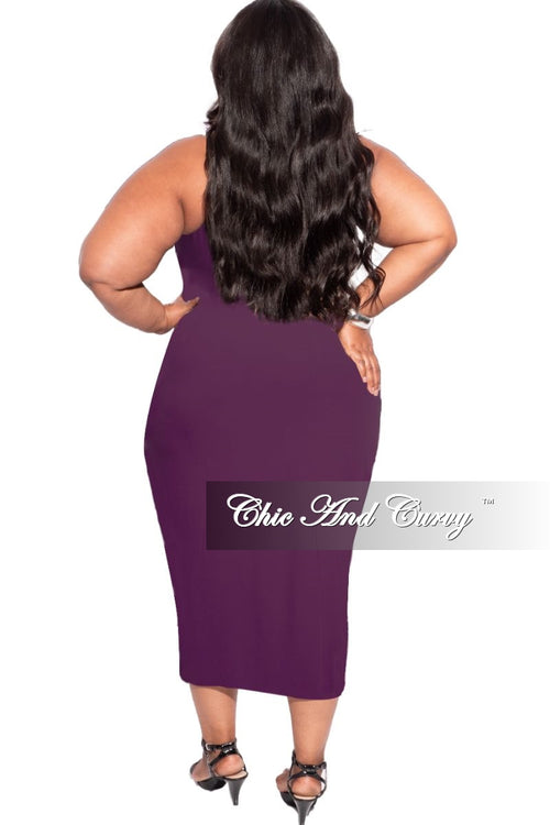 New Plus Size Strapless Dress/Pencil Skirt in Plum