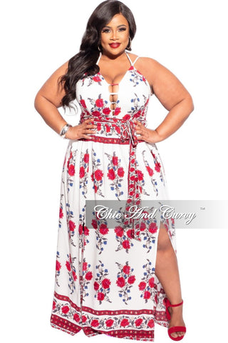 New Plus Size Short Sleeve Maxi in Rainbow Bow Tie Dye Print