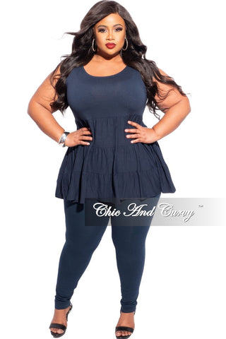 New Plus Size 2-Piece Jogger Set in Blue & White Cloud Print