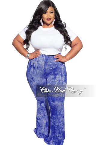 New Plus Size Harem Pants in Green Tie Dye Print