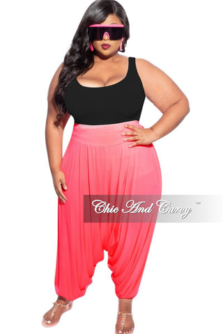 New Plus Size Exclusive Palazzo Pocket Pants in Black with White Polka Dots