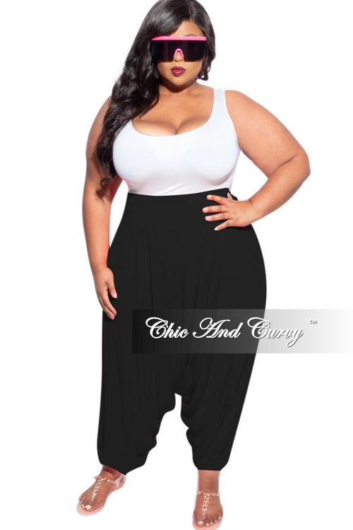 New Plus Size Harem Pants in Black