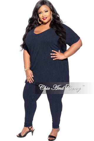 Final Sale Plus Jeans with Ripped Front in Black