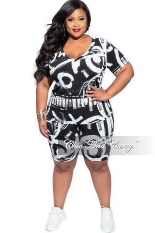 New Plus Size Exclusive Collared Faux Wrap Peplum Side Tie Top and Pants Set in Black