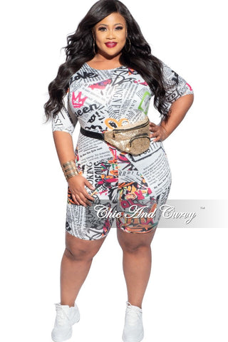 Final Sale Plus Size Shorts in Flag Print