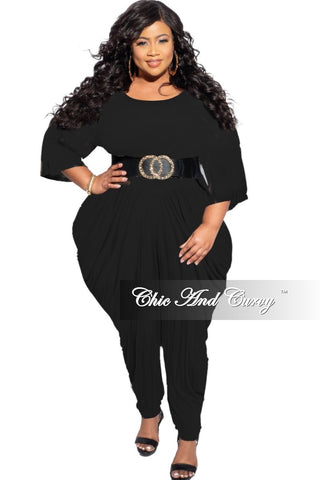 Final Sale Plus Size One Balloon Sleeve Top in Red