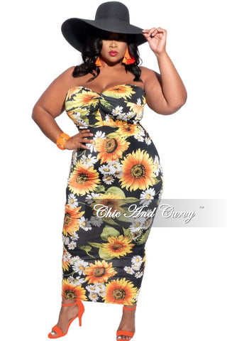 New Plus Size Maxi Dress in Black Rainbow Tie Dye Print