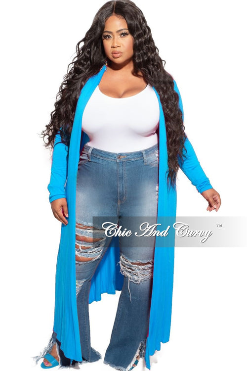 New Plus Size Duster in Turquoise