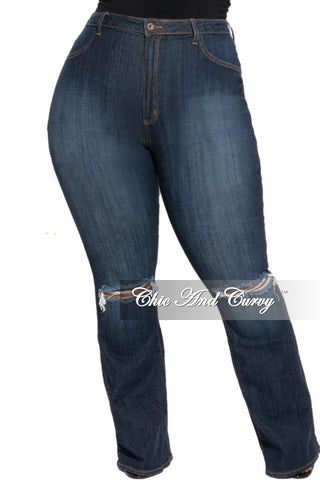 Final Sale Plus Size High Waist Jeans in Neon Pink