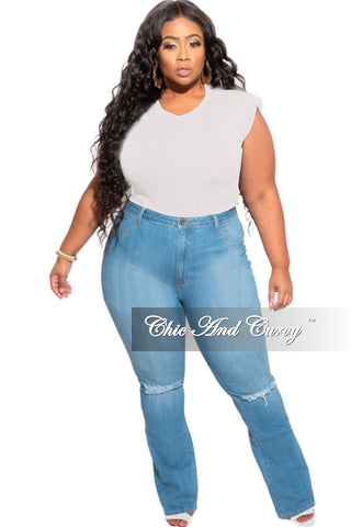 New Plus Size 2-Piece (Top & Bermuda Short) Set in Blue & Grey Tie Dye