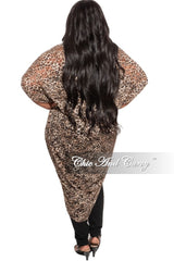 New Plus Size Kimono in Animal Print Mesh