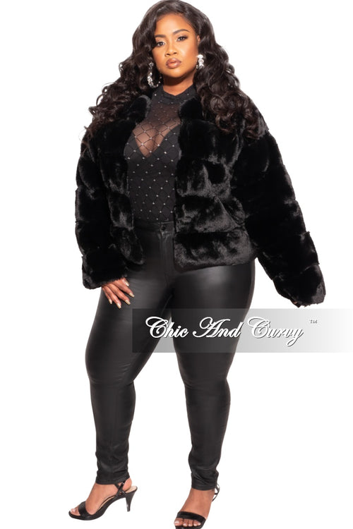 Final Sale Plus Size Bodysuit in Black with Diamond Pattern with Silver Bling