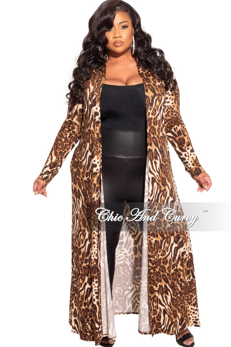 New Duster in Cheetah Print