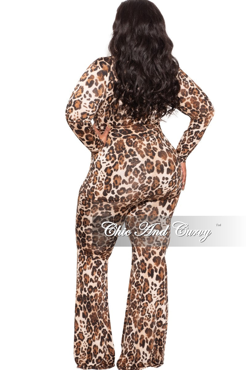 Final Sale Plus Size 2-Piece Set Reversible Top & Pants in Animal Print