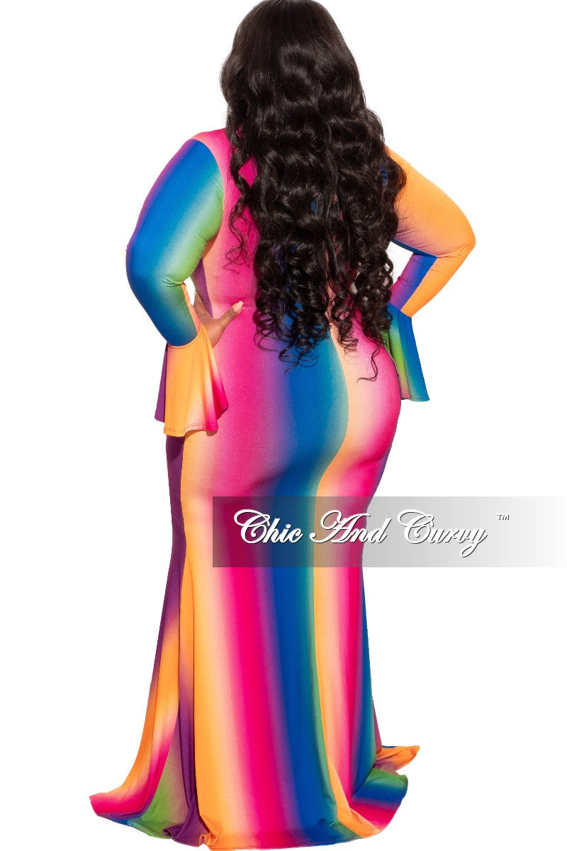 Final Sale Plus Size Over The Rainbow Gown