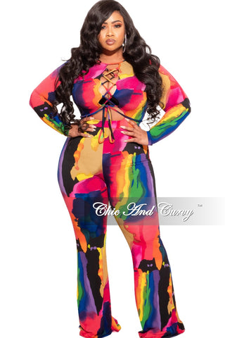 New Plus Size Jumpsuit in Camouflage