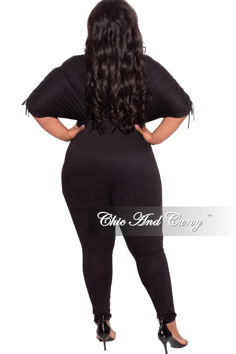 Final Sale Plus Size Batwing Jumpsuit in Black