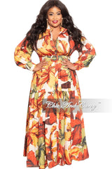 New Plus Size Dress in Autumn Flair Leaf Print