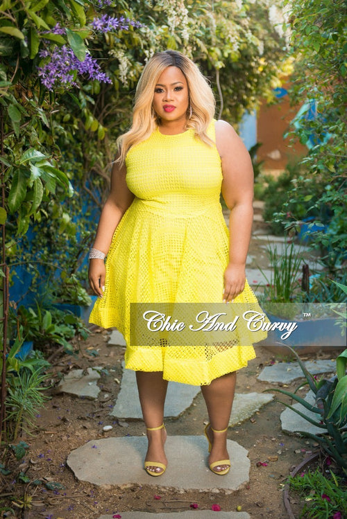 New Plus Size Sleeveless Net Fair Dress with Back Gold Zipper in Lime