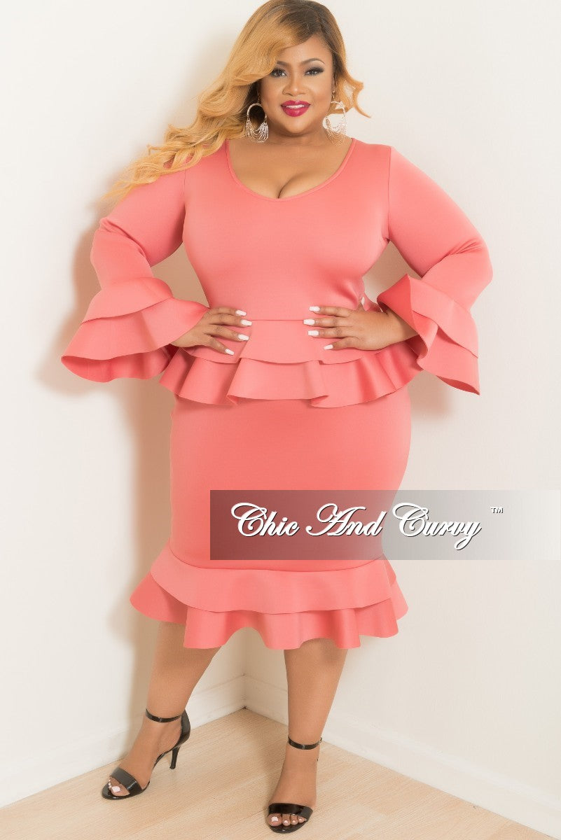 Plus Size Scuba Dress