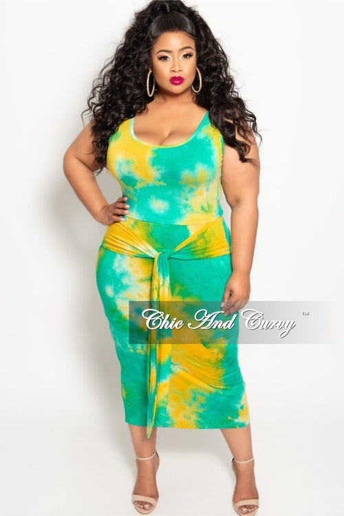 59537cdd4093 Final Sale Plus Size 2-Piece Sleeveless Crop Top and Pencil Skirt Set with  Attached