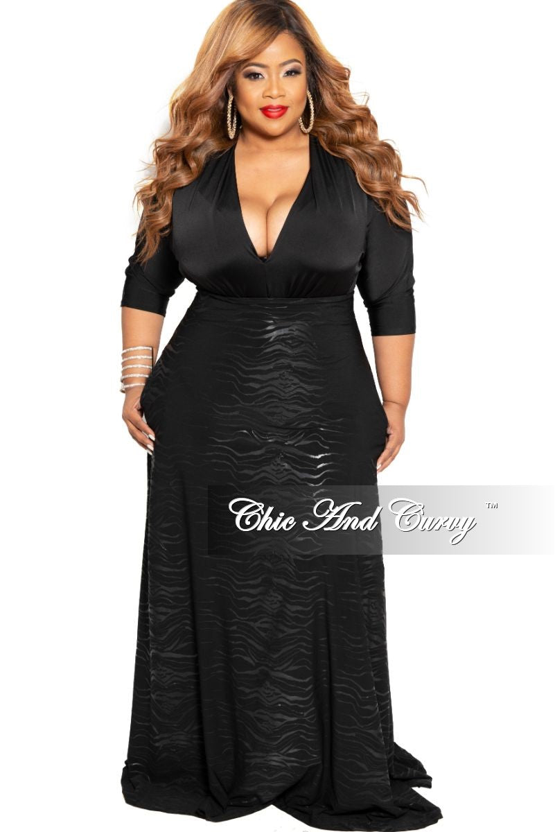 682dd4a55c2 New Plus Size Long Maxi Skirt in Black Zebra Print – Chic And Curvy