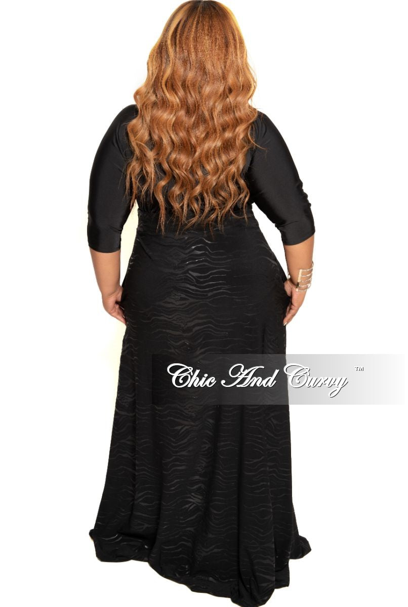 New Plus Size Long Maxi Skirt in Black Zebra Print