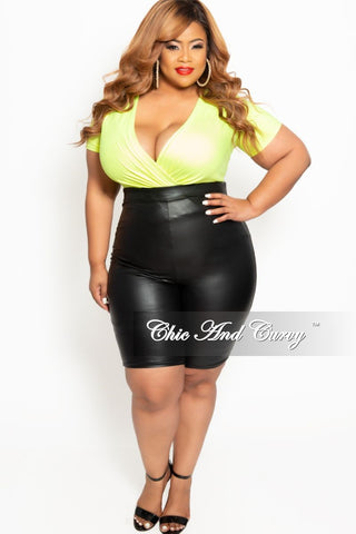 New Plus Size Shorts in Dark Denim