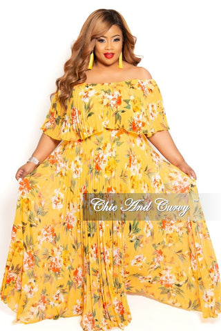 New Plus Size Pocket Maxi Dress with 3/4 Sleeves and Tie in Green Blue and Yellow Tie Dye Print