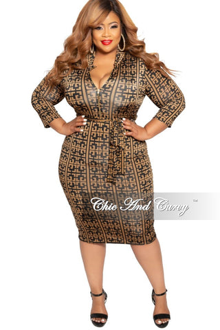 Final Sale Plus Size Flare Pocket Dress with Ruffle Sleeves and Silver Zipper in Black Scuba