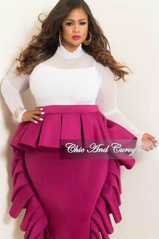 Final Sale Plus Size White Flare Bell Jeans