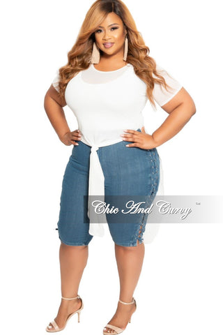 New Plus Size Denim Shorts