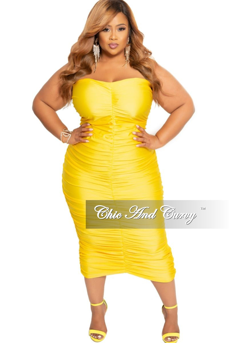 Final Sale Plus Size Strapless Ruched