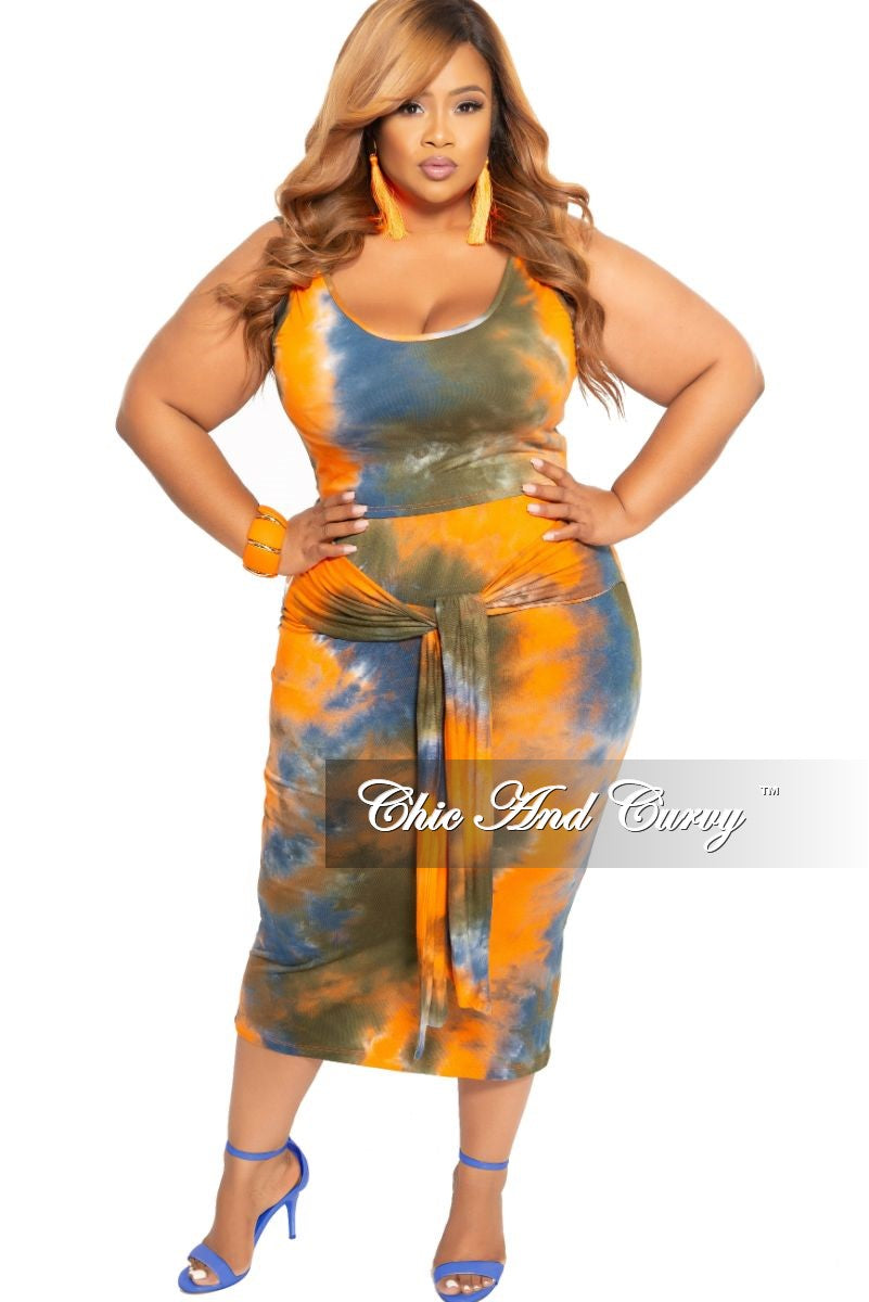 8db82a42d68 New Plus Size 2-Piece Sleeveless Crop Top and Pencil Skirt with Attach –  Chic And Curvy