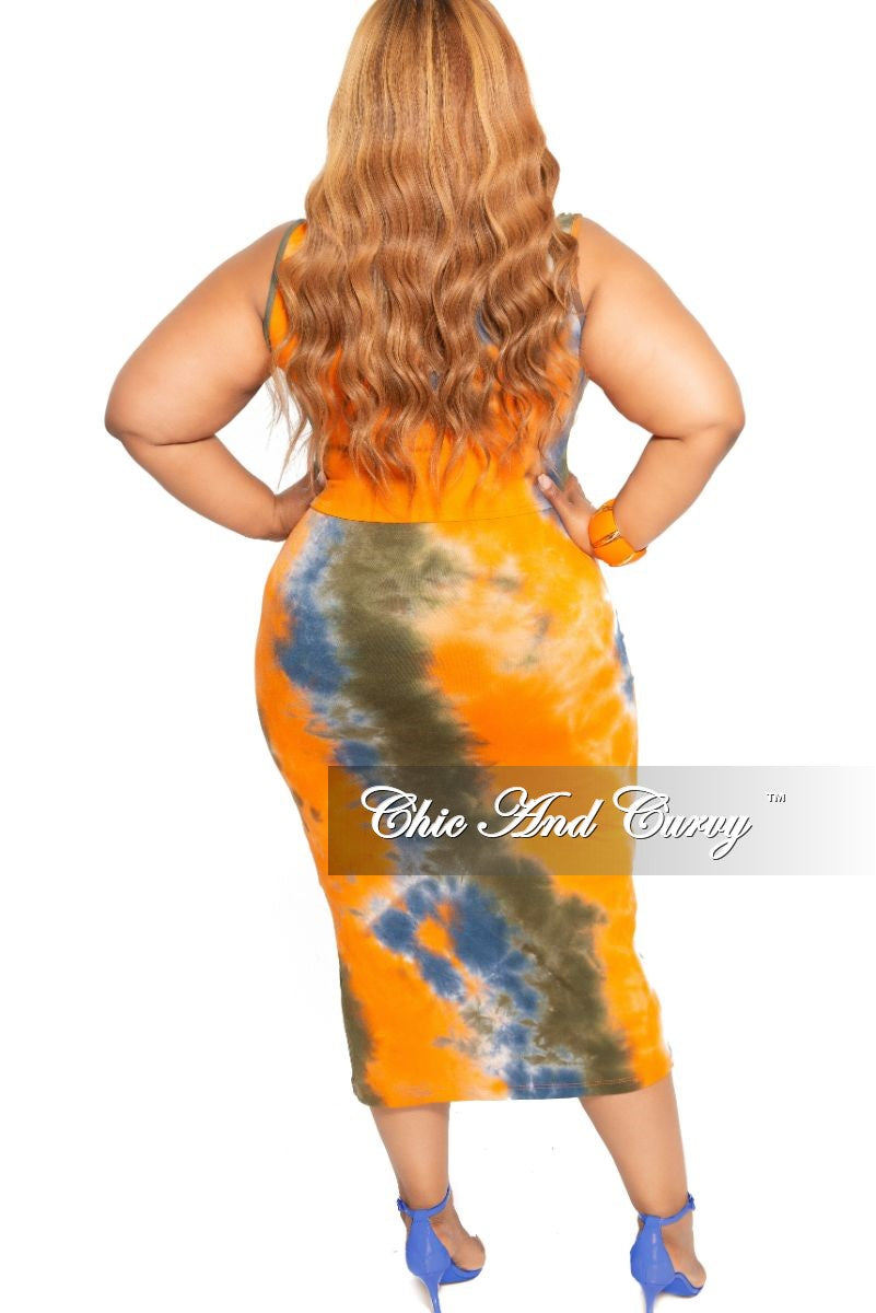 86eb14ea02b New Plus Size 2-Piece Sleeveless Crop Top and Pencil Skirt with Attached  Tie Set