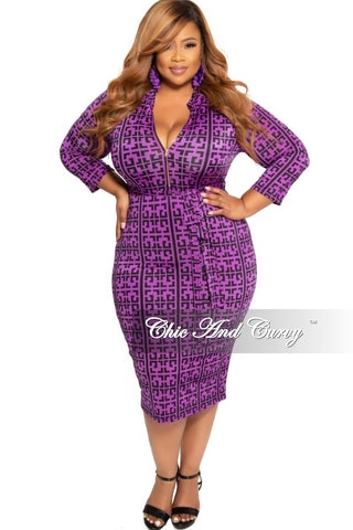 Final Sale Plus Size Short Sleeve Mesh BodyCon Dress in Navy and Green Leaf Print