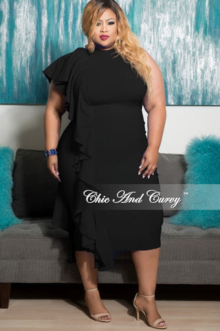 Final Sale Plus Size Bodycon With Shoulder Cutout And Mesh Sleeves